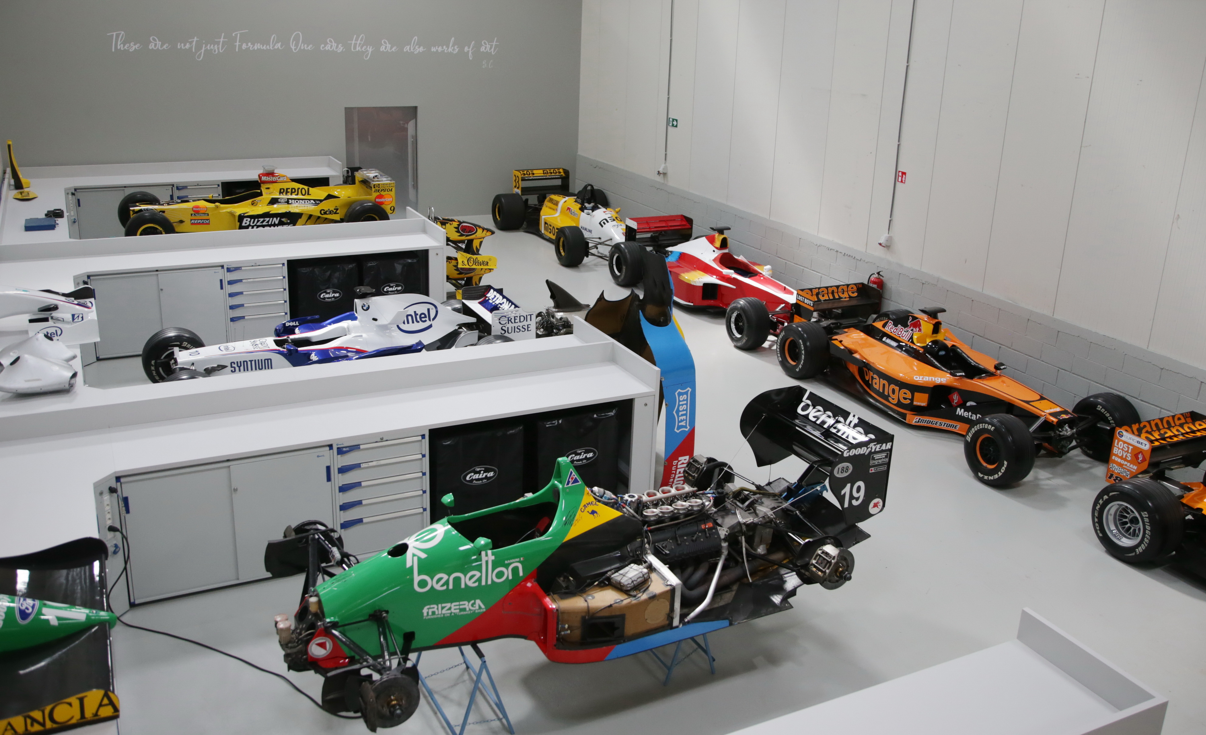 Officina Caira Formulation One, the Belgian workshop that maintains the F1 heritage